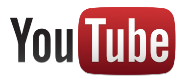 YouTube logo standard white
